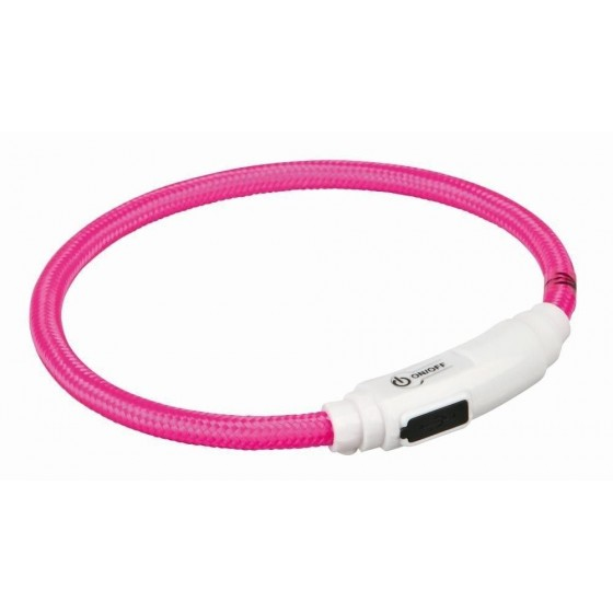 Anillo Flash USB para Gatos,35cm/ø7mm,Rosa