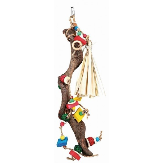Wooden toy with wicker balls, 56 cm
