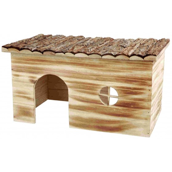 Casita de madera Grete, Natural Living, 45 × 24 × 28 cm